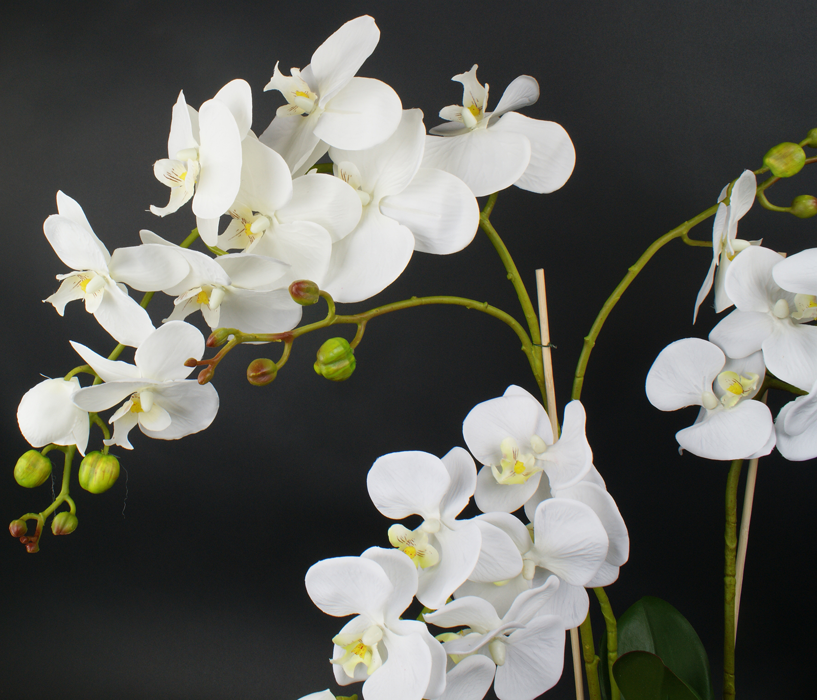 seidenblumen gesteck orchidee creme fensterschmuck kunstblumen in vase neuware ebay. Black Bedroom Furniture Sets. Home Design Ideas