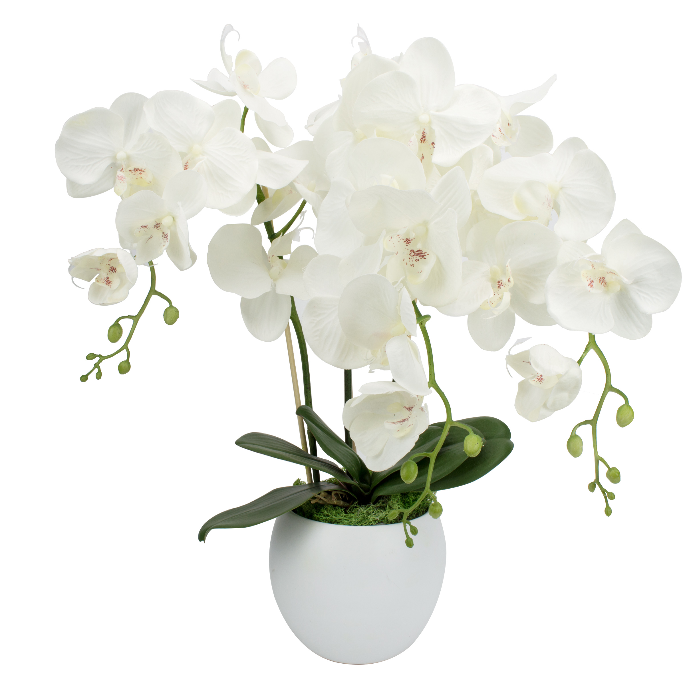kunstblumen gesteck orchidee weiss vase fensterschmuck blumengesteck tisch deko ebay. Black Bedroom Furniture Sets. Home Design Ideas