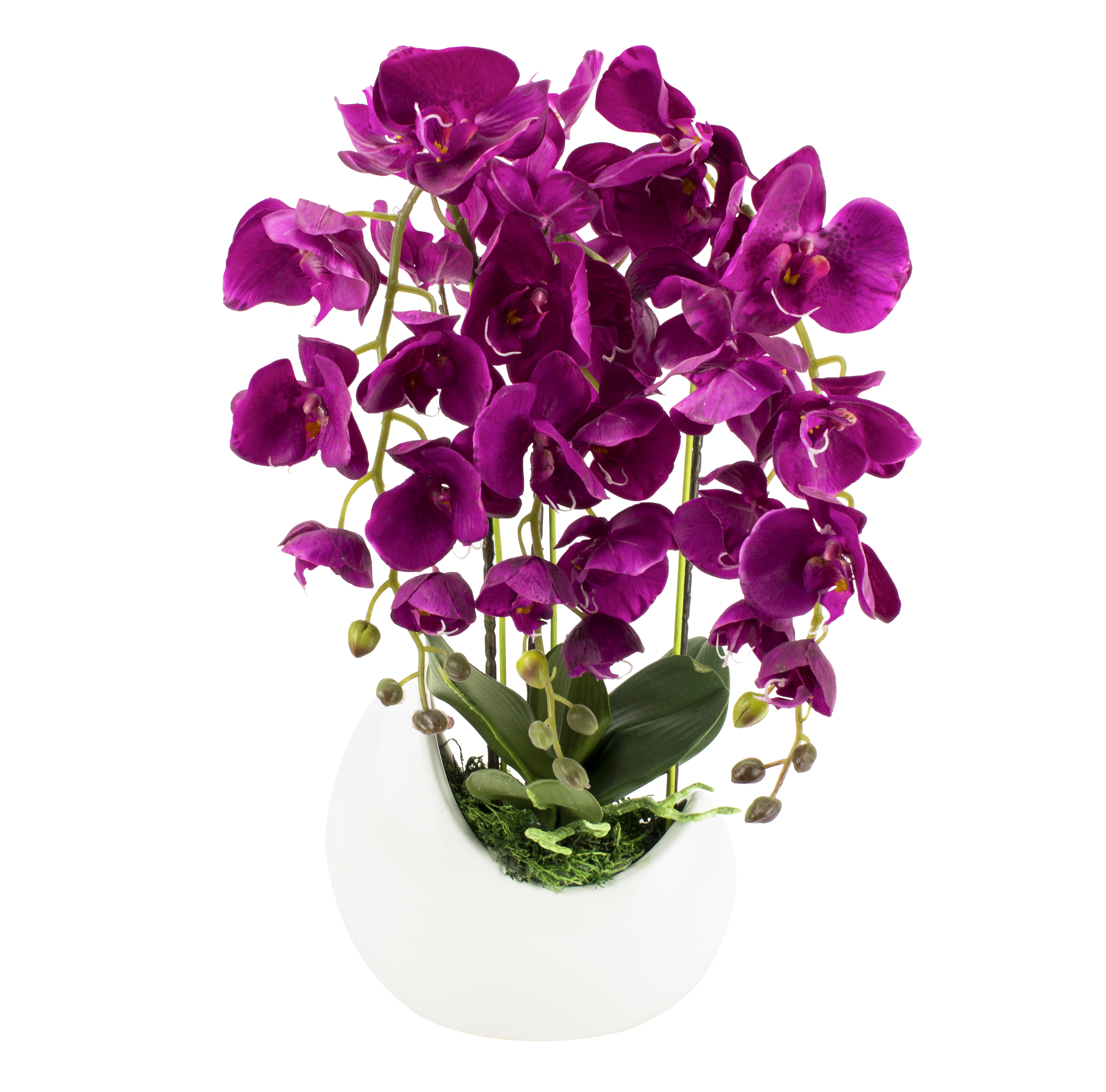 gesteck orchidee violett weiss kunstblumen vase fensterschmuck blumengesteck ebay. Black Bedroom Furniture Sets. Home Design Ideas
