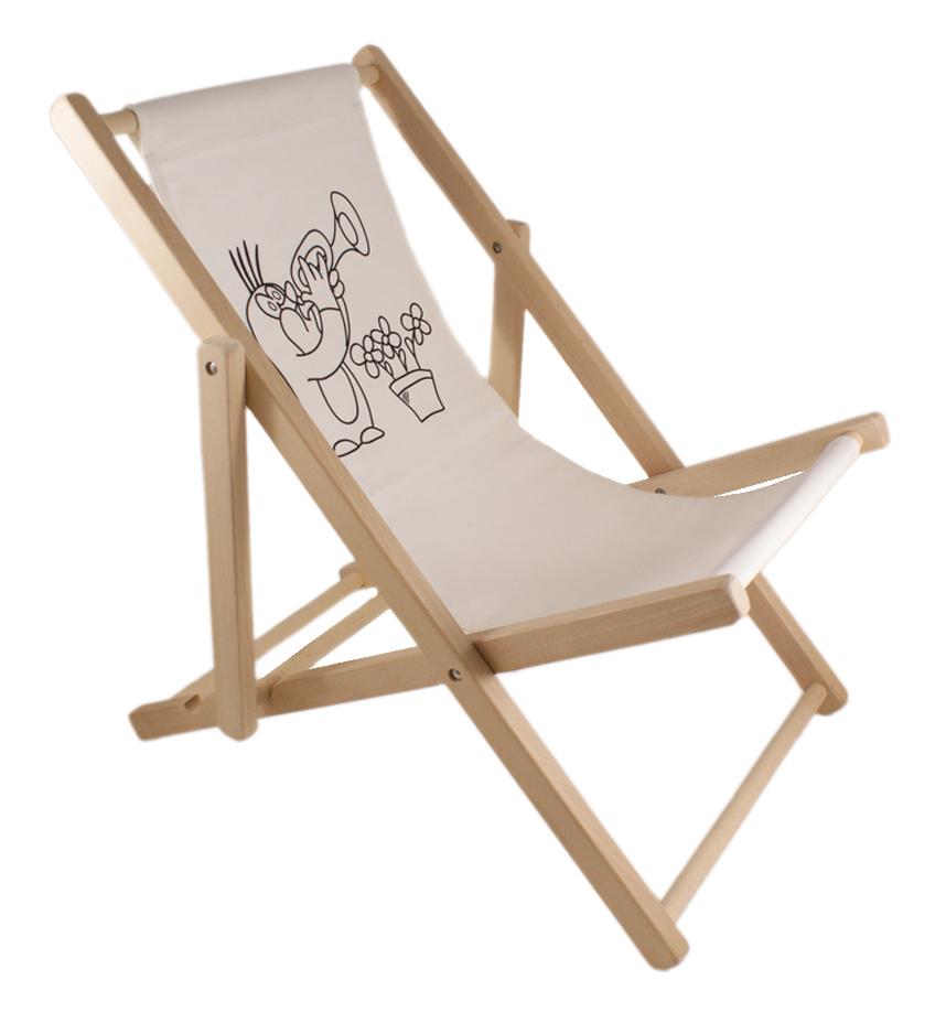 liegestuhl strandliege liege sonnenliege campingliege aus holz f r kinder hit ebay. Black Bedroom Furniture Sets. Home Design Ideas